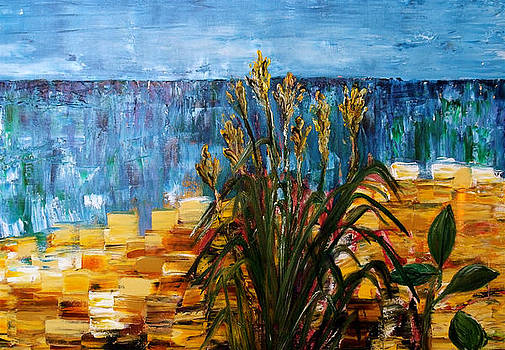 Beach Grass Evanston Beach by Impressionism Modern and Contemporary Art  By Gregory A Page