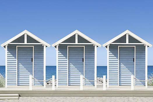 Beach Huts by Gillian Dernie