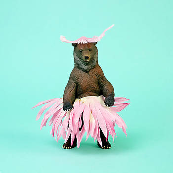 Bear In Flower Skirt by