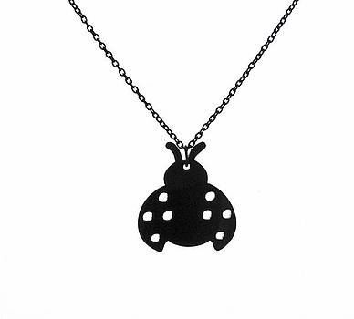 Beetle Pendant Necklace by Rony Bank