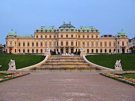Belvedere Palace in Vienna by Kiril Stanchev