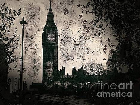 Big Ben Black and White by Marina McLain
