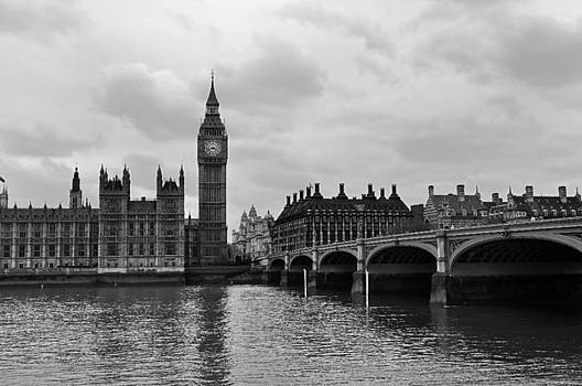 Big Ben on the Thames by Andres LaBrada