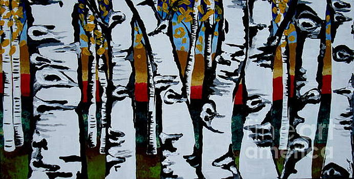 Birch trees by Amy Sorrell