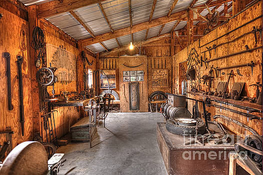 Blacksmith Shop - Car Mechanic Tools by Liane Wright