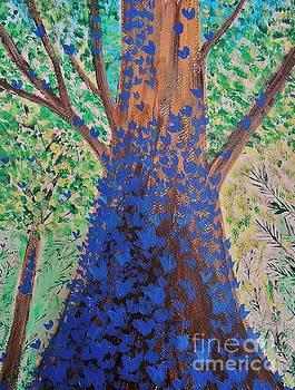 Blue Butterflies by Jessie Art
