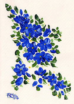 Blue Flowers by Rita Miller