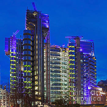 Blue Hour At The Lloyds Building by Pete Reynolds