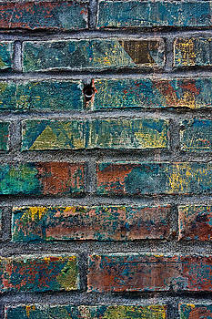Blue Painted Brick by Steve Raley