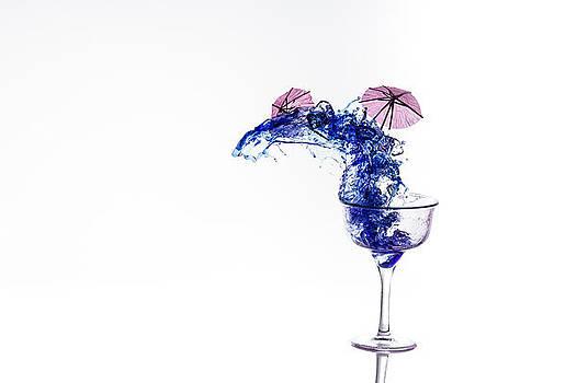 Blue Splash by Padma Inguva