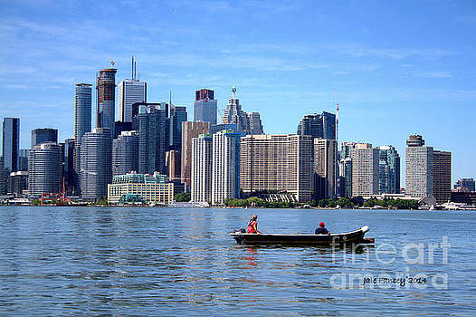Boating by the Big City by Jale Fancey