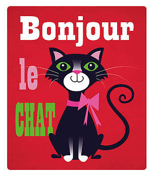 Bonjour le chat by Louise Gardner