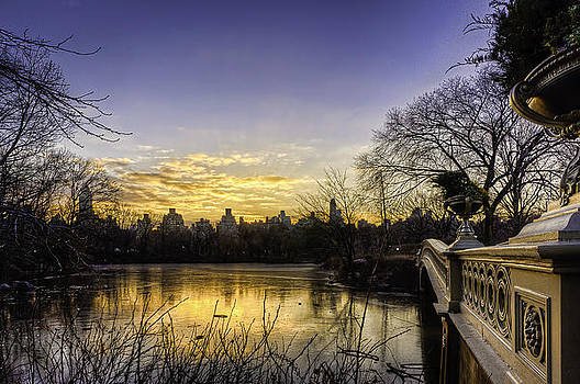 Bow Bridge Sunrise by Jose Vazquez
