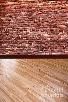 Brick Wall Wood Floor background by ChelsyLotze International Studio