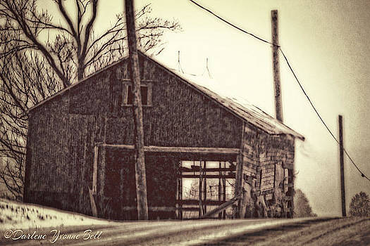 Broken Down Barn by Darlene Bell
