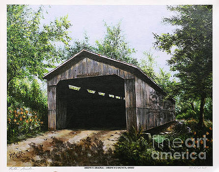 Brown Covered Bridge Brown County Ohio by Rita Miller