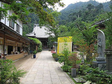 Buddhist Temple on Itsukushima by Katerina Naumenko