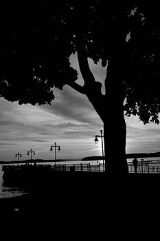 Burlington Vermont Fishing Pier  by Wendell Ducharme Jr