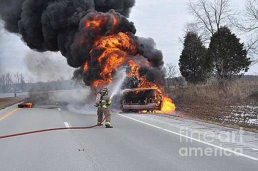 Bus Fire by Steven Townsend