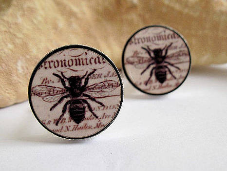 Busy Bees Mens Cufflinks by Rony Bank