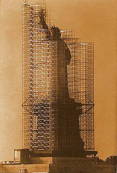 New York Lady Liberty Statue Of Liberty Caged Freedom by Michael Hoard