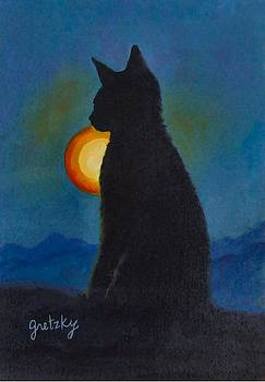 Cat Silhouett3 by Paintings by Gretzky