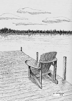 Chair On The Dock by Al Intindola