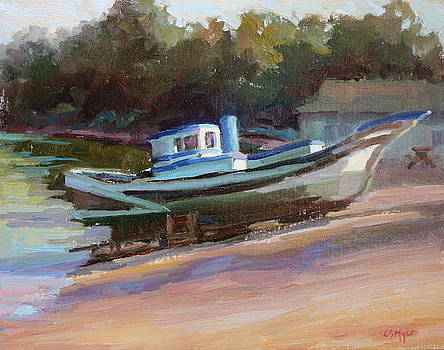 China Camp Boat by Carol Smith Myer