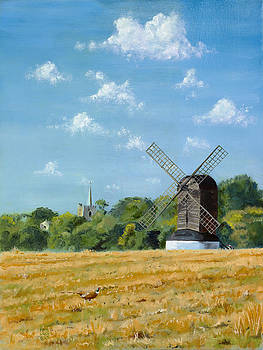 Church and Mill Ivinghoe by Mick Wren