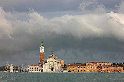 Church of San Giorgio Maggiore after the storm by Kiril Stanchev