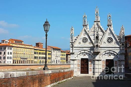 Church Santa Maria della Spina in Pisa by Kiril Stanchev