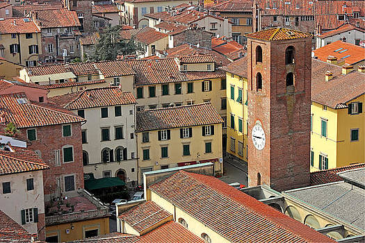 City View of Lucca with the Clock Tower by Kiril Stanchev