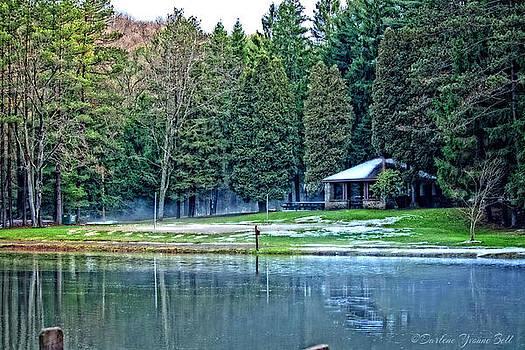 Clear Creek Pavilion In January by Darlene Bell
