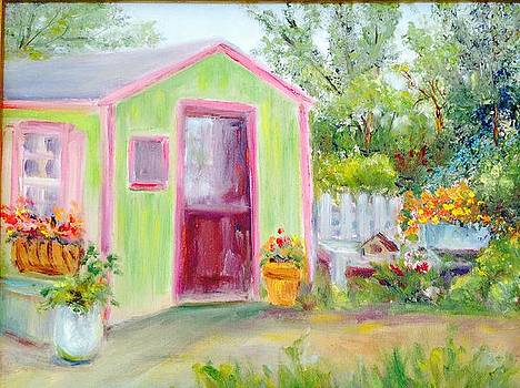Colorful Garden Shed by Holly LaDue Ulrich