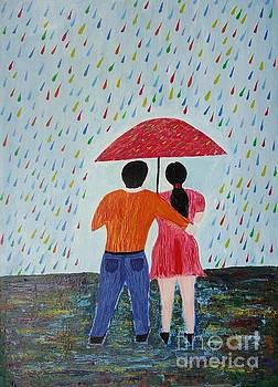 Colorful rain by Jnana Finearts