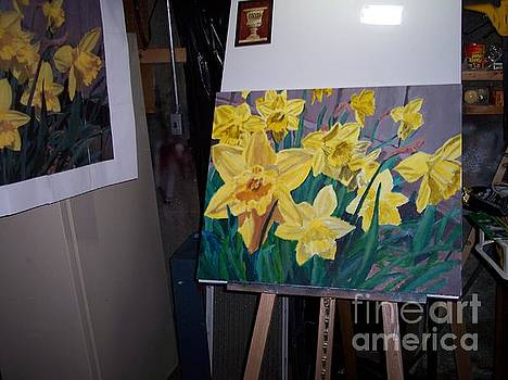 Daffodils Painting and Photo Model by Charlie Harris