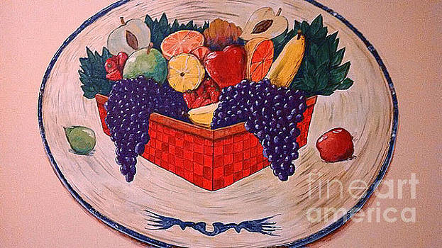 Decorative Platter Mural by Andrew Hench