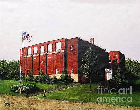 Derby School House In Derby Ohio Pickaway County  by Rita Miller