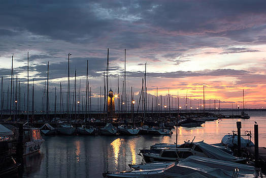 Desenzano del Garda Marina with the Old Lighthouse by Kiril Stanchev