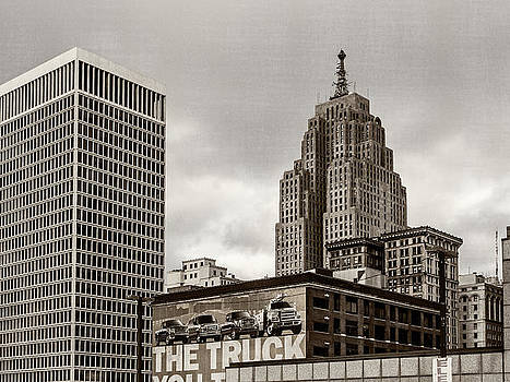 Detroit Cityscape - Penobscot Building by James Howe
