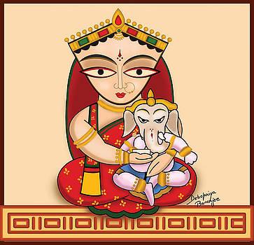 Digital Version of Jamini Roy Painting by Debopriya Banerjee