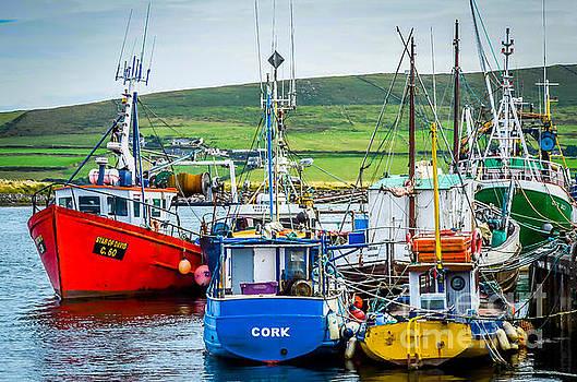 Dingle Fishing Boats by John MilitaryFire