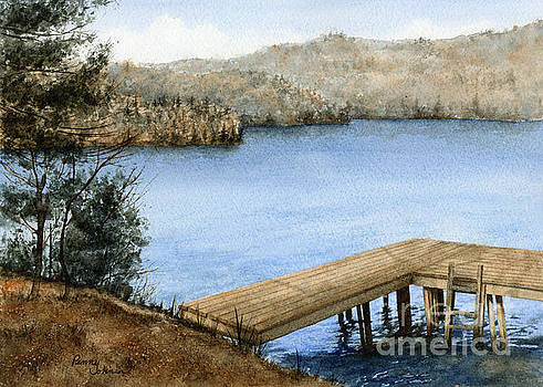 Dock On The Lake by Penny Johnson