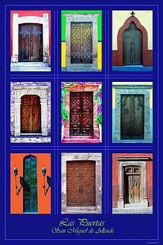 Doors of San Miguel Poster Dark by Britton Britt Cagle