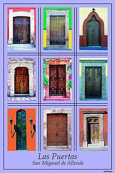 Doors of San Miguel Poster Lite by Britton Britt Cagle