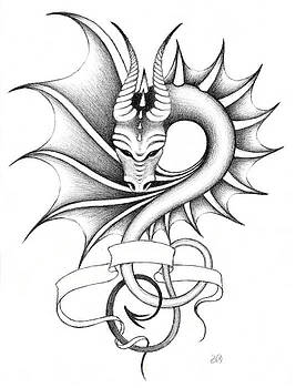 Dragon-tattoo II by Erla Alberts