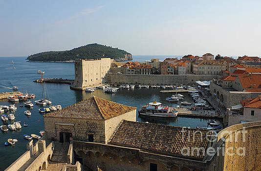 Dubrovnik old Town Harbor by Kiril Stanchev