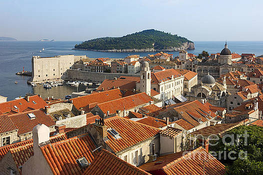 Dubrovnik Sunny Afternoon Panoramic View with The Harbor by Kiril Stanchev