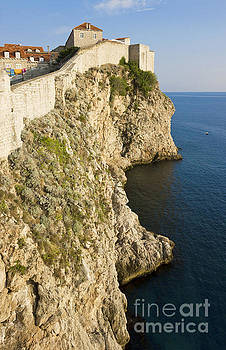 Dubrovnik view of the old city wall and the Adriatic Sea by Kiril Stanchev