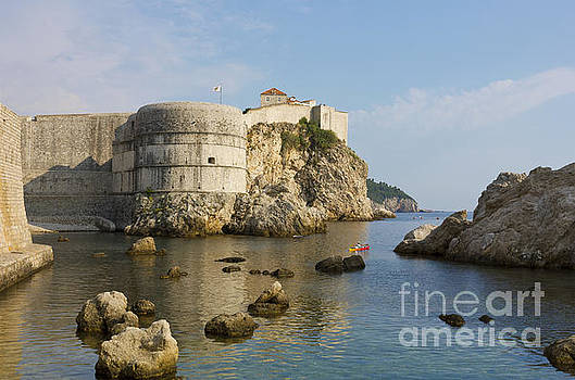 Dubrovnik view toward the old fortress city wall by Kiril Stanchev